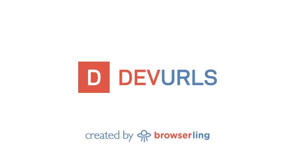 DevURLs – World's simplest developer news aggregator